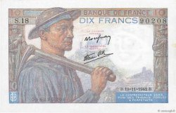 10 Francs MINEUR FRANCE  1942 F.08.05 SUP+
