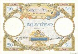50 Francs LUC OLIVIER MERSON type modifié FRANCE  1932 F.16.03 pr.TTB