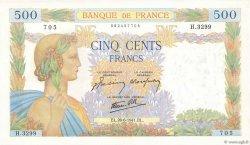 500 Francs LA PAIX FRANCE  1941 F.32.19 NEUF