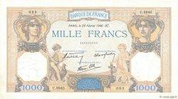 1000 Francs CÉRÈS ET MERCURE type modifié FRANCE  1940 F.38.43 SUP