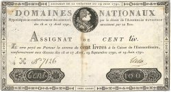 100 Livres FRANCE  1791 Ass.15a TTB