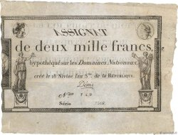 2000 Francs FRANCE  1795 Ass.51a aVF