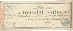 500 Francs avec série FRANCE  1796 Ass.62b TTB