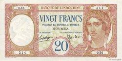 20 Francs NOUVELLE CALÉDONIE  1936 P.37b TTB+