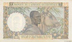 25 Francs AFRIQUE OCCIDENTALE FRANÇAISE (1895-1958)  1953 P.38 SUP+