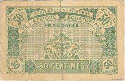 50 Centimes AFRIQUE ÉQUATORIALE FRANÇAISE  1917 P.01a TB