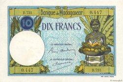 10 Francs MADAGASCAR  1937 P.36 SUP+