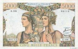 5000 Francs TERRE ET MER FRANCE  1952 F.48.07 aAU