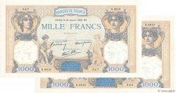 1000 Francs CÉRÈS ET MERCURE type modifié FRANCE  1940 F.38.41 aAU