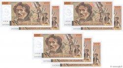100 Francs DELACROIX imprimé en continu FRANCE  1991 F.69bis.04a XF