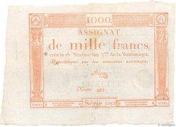 1000 Francs FRANCE  1795 Ass.50a SUP