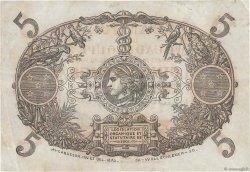 5 Francs Cabasson rouge GUADELOUPE  1934 P.07c TTB