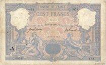 100 Francs BLEU ET ROSE FRANCE  1907 F.21.22 aF
