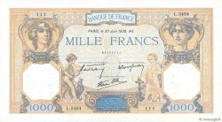 1000 Francs CÉRÈS ET MERCURE type modifié FRANKREICH  1938 F.38.21 VZ+