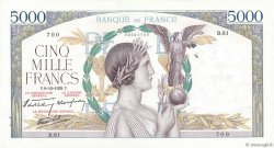 5000 Francs VICTOIRE Impression à plat FRANCE  1938 F.46.01 XF