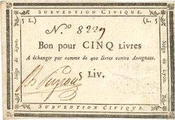 5 Livres FRANCE  1793 Kol.134 SUP