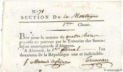 4 Livres FRANCE  1794 Kol.61.096var XF