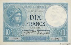 10 Francs MINERVE FRANCE  1924 F.06.08 SUP+