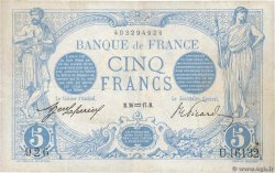 5 Francs BLEU FRANCE  1917 F.02.47 VF