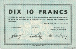 10 Francs  FRANCE regionalism and miscellaneous Mulhouse 1940 BU.50.03 UNC