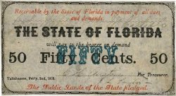 50 Cents  UNITED STATES OF AMERICA Tallahassee 1863 PS.0687a F