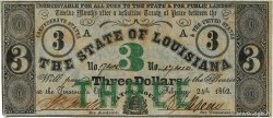 3 Dollars  UNITED STATES OF AMERICA Baton Rouge 1862 PS.0893 AU