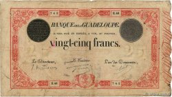 25 Francs rouge  GUADELOUPE  1934 P.08
