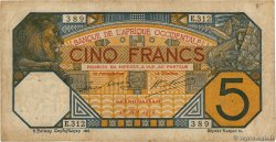 5 Francs GRAND-BASSAM FRENCH WEST AFRICA Grand-Bassam 1918 P.05Db S