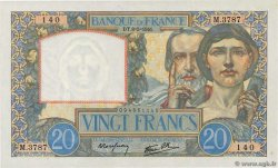 20 Francs TRAVAIL ET SCIENCE  FRANCE  1941 F.12.14 AU