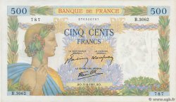 500 Francs LA PAIX FRANCE  1941 F.32.18 SUP+