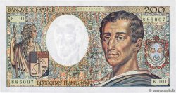 200 Francs MONTESQUIEU alphabet 101 FRANCE  1992 F.70bis.01 UNC-