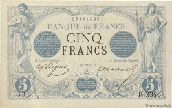 5 Francs NOIR FRANCE  1874 F.01.25 SPL