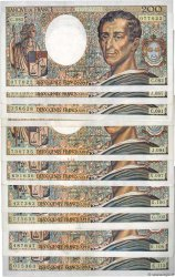 200 Francs MONTESQUIEU Lot FRANKREICH  1990 F.70.10-11 SS to VZ