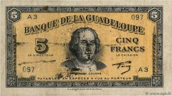5 Francs Type US GUADELOUPE  1944 P.21a TTB
