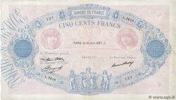 500 Francs BLEU ET ROSE FRANCE  1937 F.30.38 pr.TTB