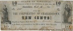 10 Cents  UNITED STATES OF AMERICA Charlestown 1861  F-