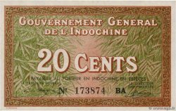 20 Cents INDOCHINE FRANÇAISE  1939 P.086c NEUF