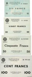 10 à 100 Francs Lot FRANCE regionalismo e varie Mulhouse 1940 BU.50 à 53