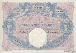 50 Francs BLEU ET ROSE FRANCE  1920 F.14.33 SUP+