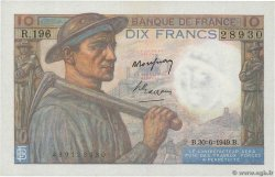10 Francs MINEUR FRANCE  1949 F.08.22 SPL