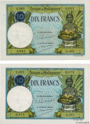 10 Francs Lot MADAGASKAR  1948 P.036