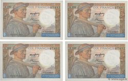 10 Francs MINEUR Lot FRANCIA  1944 F.08.10
