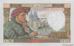 50 Francs JACQUES CŒUR  FRANCE  1941 F.19.17 SPL+