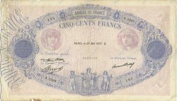 500 Francs BLEU ET ROSE FRANCE  1937 F.30.38