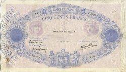 500 Francs BLEU ET ROSE modifié FRANCE  1938 F.31.14 TTB