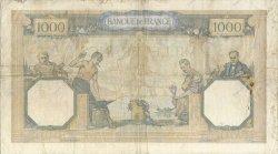 1000 Francs CÉRÈS ET MERCURE type modifié FRANCE  1938 F.38.25 pr.TTB