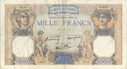 1000 Francs CÉRÈS ET MERCURE type modifié FRANCE  1939 F.38.34 TTB