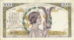 5000 Francs VICTOIRE Impression à plat FRANCE  1941 F.46.29 TTB+