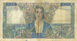 5000 Francs EMPIRE FRANÇAIS FRANCE  1945 F.47.48 pr.TTB