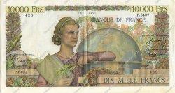 10000 Francs GÉNIE FRANÇAIS FRANCE  1954 F.50.69 SUP